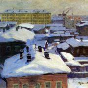 Arkhangelsk from my window. 1965