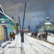 Arnold Lakhovsky. Winter in Moscow suburbs. 1927