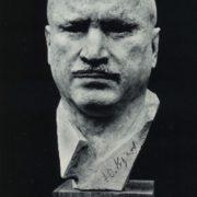 BA Totiev (Ordzhonikidze). Portrait of a Hero of Socialist Labor Yu Kuchiev. 1979. Wood