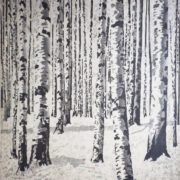 Birch wood. 1930s, lithography