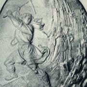 D. Karyagdy. Farhad, cutting the rock. 1941