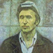 DV Zhuravlev (Novgorod). Portrait of a Hero of Socialist Labor AN Butorov, worker of Cherepovets plant. 1978. Oil on canvas