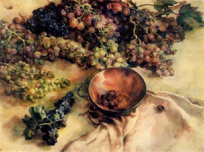 E.L. Sizikova. Crimean grapes. 1978