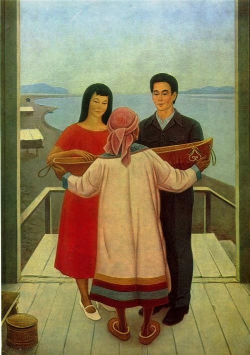 E.V. Korolenko (Komsomolsk-on-Amur). Generic Cradle. 1980. Oil on canvas