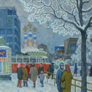 Evgeny Bitkin. Wintery Moscow. 1969