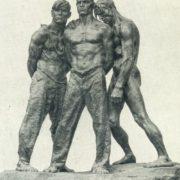 F.D. Fiveisky. Stronger than death. 1957. Tinted gypsum