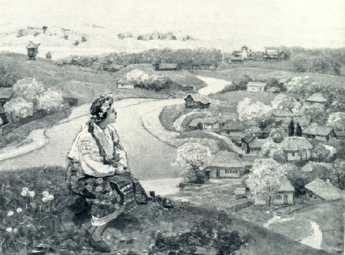 G. Svetlitsky. Native land. 1945