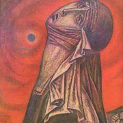 G. Zakharov. Yaroslavna. Mixed media. 1971