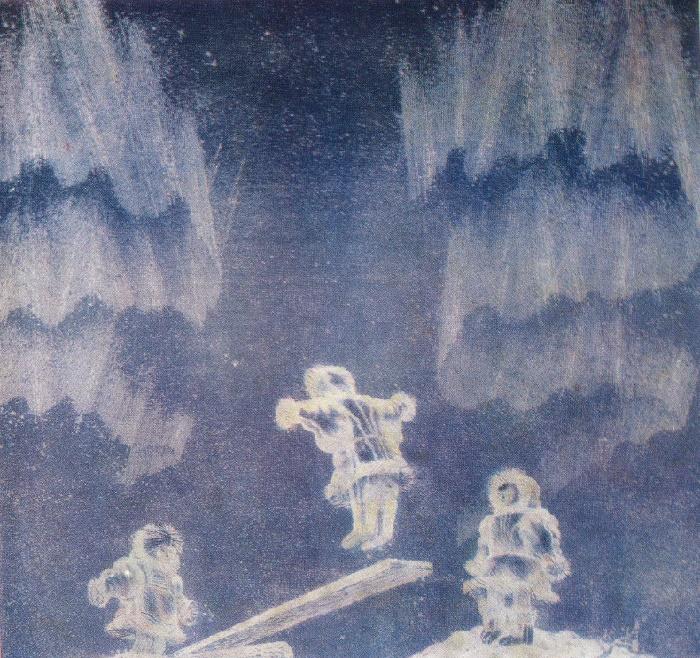 G.A. Yelfimov. Polar Lights. From the Tundra series. 1979