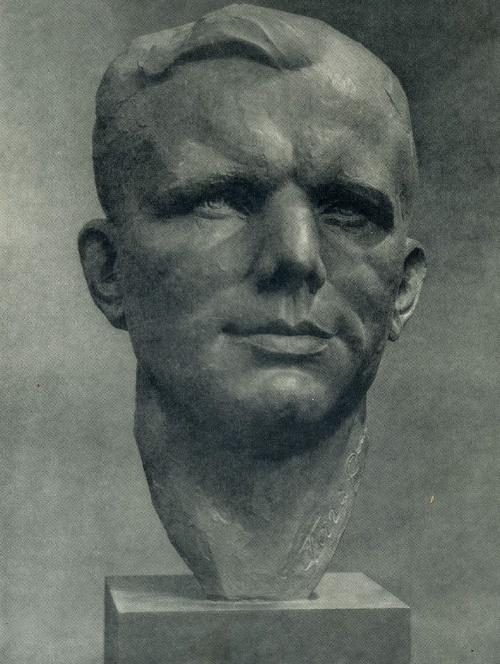 G.N. Postnikov. Hero of the Soviet Union Yu.A. Gagarin. Tinted gypsum
