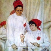 GD Zhdanov (b. 1921) Trainer. 1975. Oil on canvas
