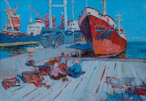 Gennady Sevostyanov (1938 - 2003). Port. City of Kerch. Canvas, oil. 1967