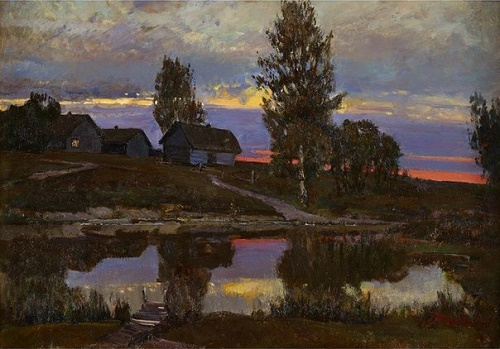 German Tatarinov (1925-2005). The evening near Pskov