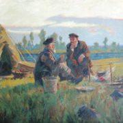 Grigory Bonya (b. 1918). Lenin in Siberia. 1970. Oil on canvas