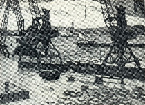 I. Tyurin. Port in Togliatti. Canvas, oil. 1985