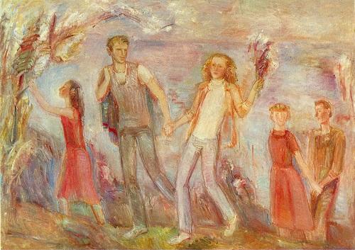 IA Starzhenetskaya. ( born 1943 Moscow). Flowering in May. 1976. Oil on canvas