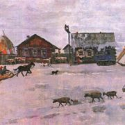 L. Semyonov. Day in Orongoe. Oil. 1987