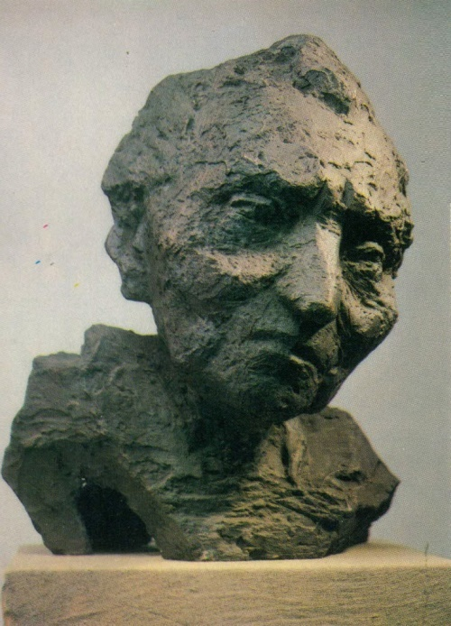 L.M. Davydova-Medene. Mother of artist Leo Kokle. 1980. Bronze