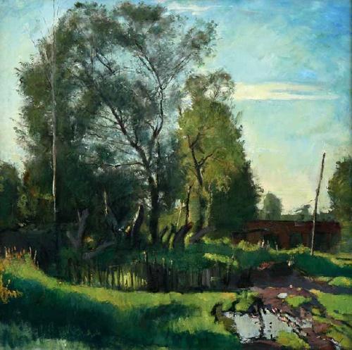 Landscape. 1998. A.A. Chukin. Tomsk art museum