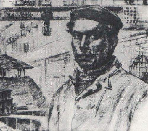 M. Omorkulov. Special hydro-installer. Pencil. 1982