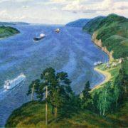 M. Petrov. Over the Volga. 1985