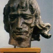 M.I. Berdzenishvili. Georgian poet David Guramishvili (1705-1792). 1959. Bronze
