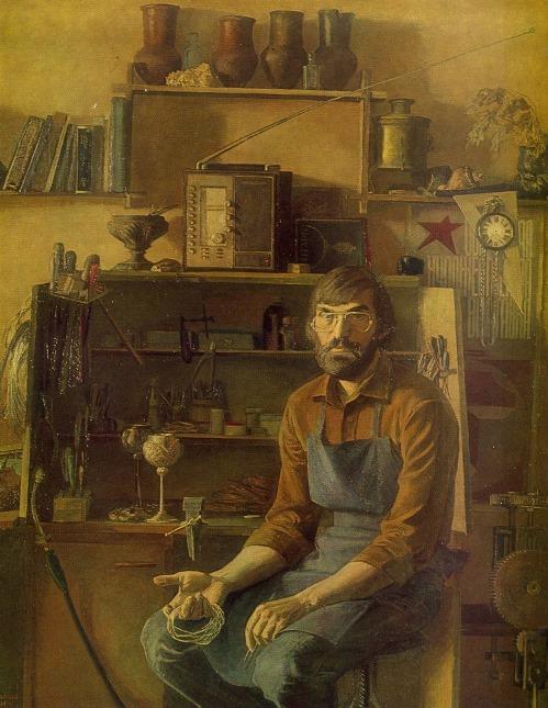 MA Salmov (Kostroma). Krasnoselsky jeweler Nikolai Nuzhin. 1981