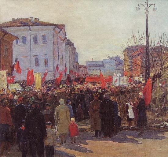 Soviet artist Mikhail Sergeyevich Barancheyev