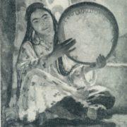 N. Kashina. A Girl with a tambourine. 1945