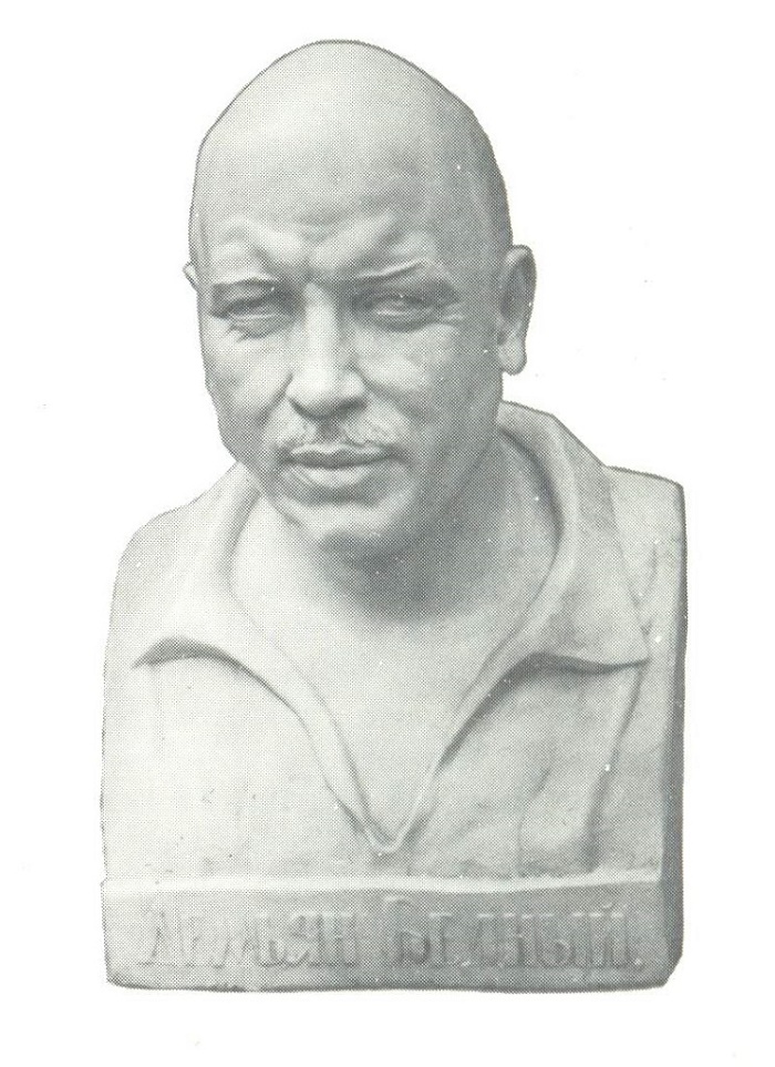 N. Krandievskaya. Demyan Bedny. Gypsum. 1928