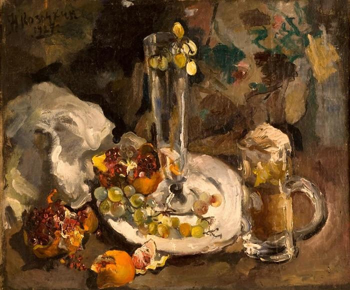N.S. Kozochkin. Still life with a mug. 1927