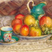 Nikolai Hrustachyov (1883-1961). Still life with a green cup 1937