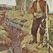Nikolay Gladkikh (1926). At the old trench, 1959