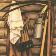O. Pavlikov (Saransk). Returning from mowing. Oil. 1987