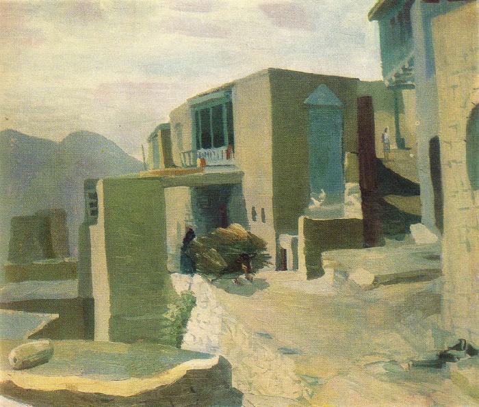 O.M. Pirbudagov. Street in Choch. 1979