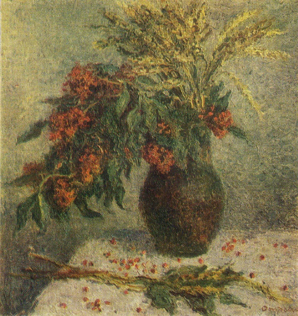 O.S. Otroshchenko. Elderberry and wheat. 1979