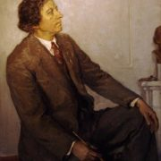 Portrait of Isaak Brodsky. Zagorsk Art museum