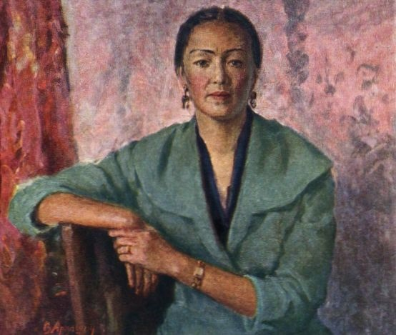 Portrait of the People's Artist of the Kirghiz SSR B. Kydykeeva