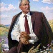 Portrait of the People's Poet of Chuvashia Yakov Ukhsay, 1990