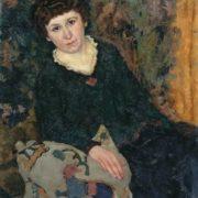 Pyotr Ivanovich Kelin (1877-1946). Portrait of woman. 1922