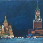 Pyotr Kostinsky (b. 1916). Red Square. Canvas, oil. 1968