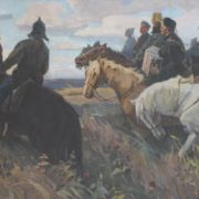 Roman Feller. Civil war. 1970s. Oil on canvas