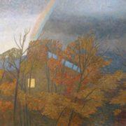Romantic autumn landscape. 1989. Artist S.L. Zybin