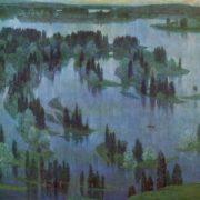 S.A. Torlopov (Syktyvkar). White nights over Vychegda. 1981. Oil on canvas
