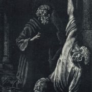 S.M. Boyko. Illustrations to Byron's poem The Shillon Prisoner. 1979