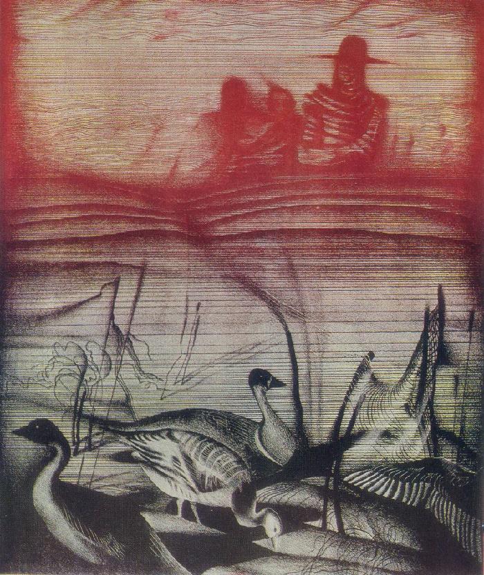 S.V. Dragune. Geese. 1978
