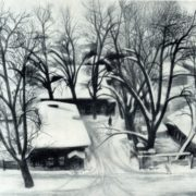 SN Garashchuk (born 1942 Irkutsk) Old Trees. 1976. Pencil on paper