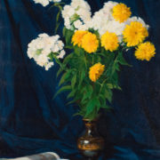 Still life with garden flowers. 1966. Oil on canvas