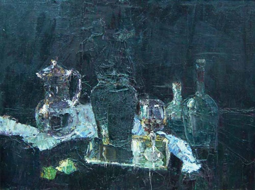 Still life with jugs. 1993. N. Dokunikhin