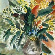 T.A. Mavrina. Mimosa. Watercolor. 1938